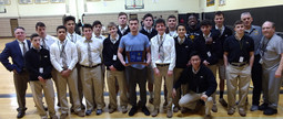SJVHS Wrestling Team Wins the First NJ District Title in school history