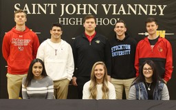 SJVHS Student Athletes Participate in National Signing Day